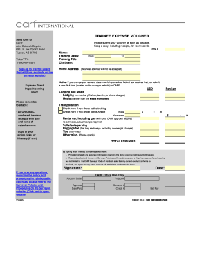 travel voucher template form