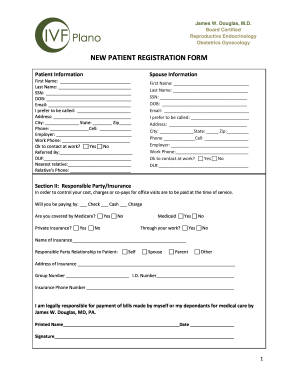 NEW PATIENT REGISTRATION FORM - IVF Plano