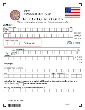 Next Of Kin Form - Fill Online, Printable, Fillable, Blank | PDFfiller