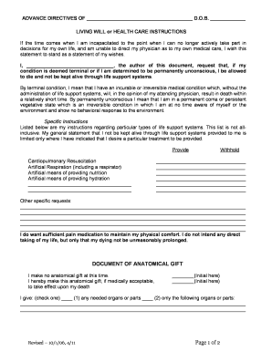 Bill Of Sale Form Minnesota Living Will Form Templates - Fillable ...