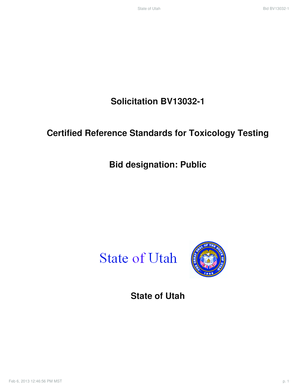 Solicitation BV13032-1 Certified Reference Standards for ...