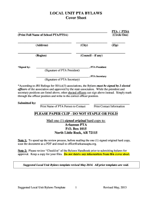 Bylaws template forms fillable printable samples for for Pta bylaws template