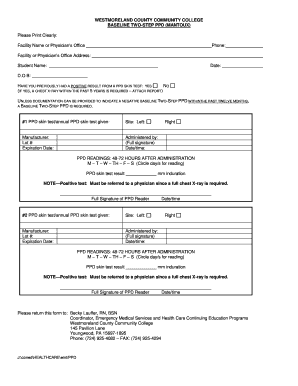 2 Step Ppd Form Fill Online Printable Fillable Blank Pdffiller