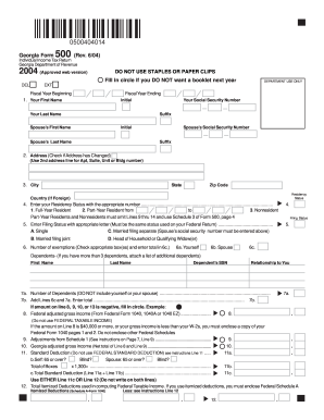 Fillible Form 500 - Fill Online, Printable, Fillable, Blank ...