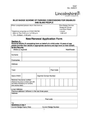 Blue Badge Application Form Durham, Lincolnshire County Council Blue Badge Application Form Fill Online Printable Fillable Blank Pdffiller, Blue Badge Application Form Durham