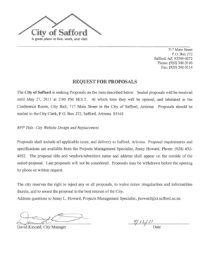 NON-COLLUSION AFFIDAVIT City Website Design and Replacement