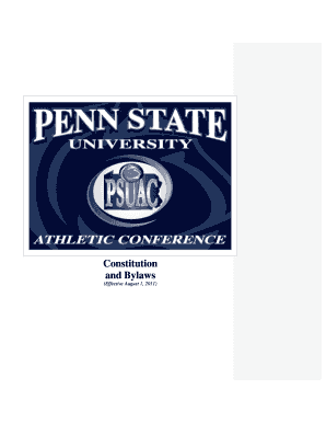 psuac bylaws form