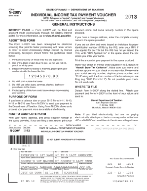Hawaii State Tax Form N200v - Fill Online, Printable, Fillable ...