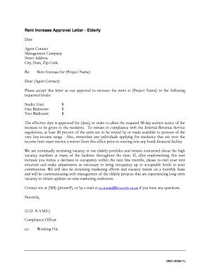 Rental Application Approval Letter from www.pdffiller.com