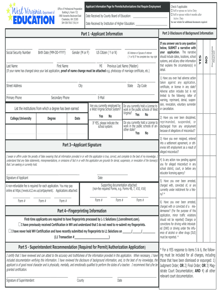 form wv pdf fillable pdffiller printable blank signnow