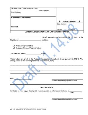 letters testamentary of administration colorado bar association cobar