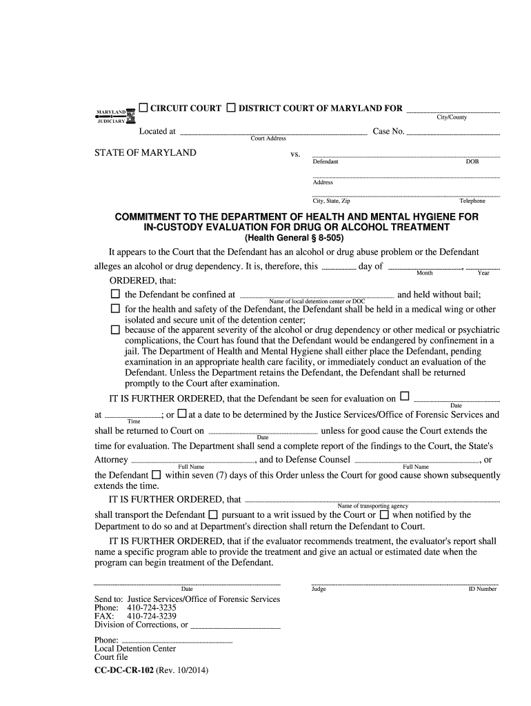 8 505 Drug Evaluation Contact Maryland - Fill Online, Printable