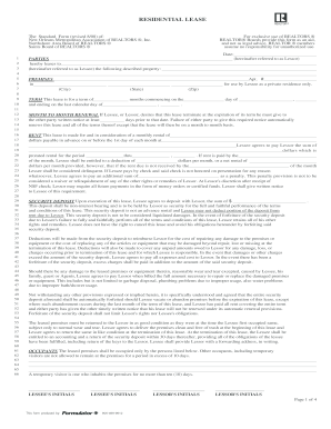 residential lease application form pdf