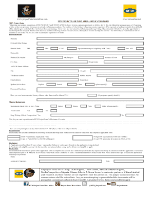 Submit sample registration form for a singing competition