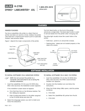 no dymo printers are installed to Download in Word & PDF - Editable