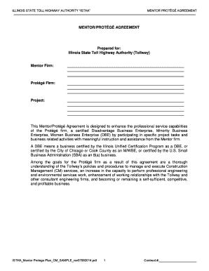 Fillable Online Mentor Prot G Plan Cm Template 06 2014