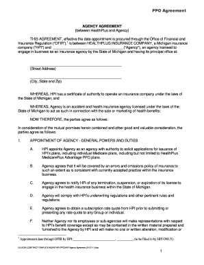 HPI Agency Agreement 01-31-11 .doc - healthplus