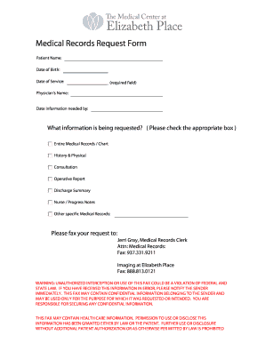 generic medical records release form templates fillable