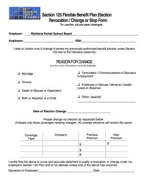 section 125 premium only plan document - Edit, Print ...