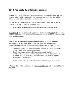 Nj Property Tax Reimbursement Eligibility Requirements