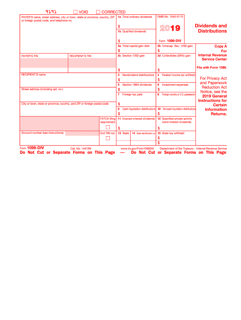 Irs 1099 Div 2020 2021 Fill And Sign Printable Template Online Us Legal Forms