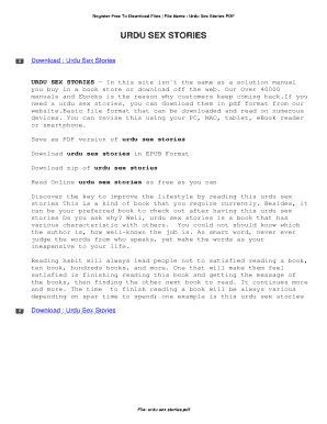 Sex stories in pdf files