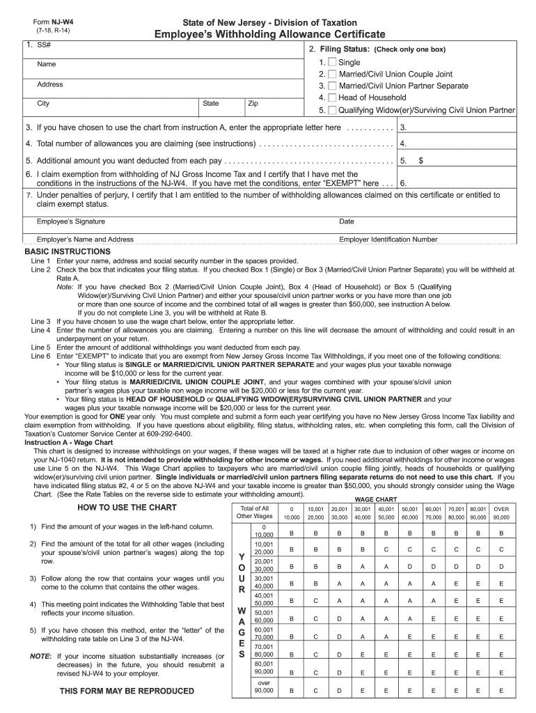 nj w4 form  7 Form NJ DoT NJ-W7 Fill Online, Printable, Fillable ...