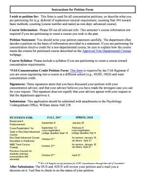 Fillable Online Psychology Undergraduate Program Fax Email Print
