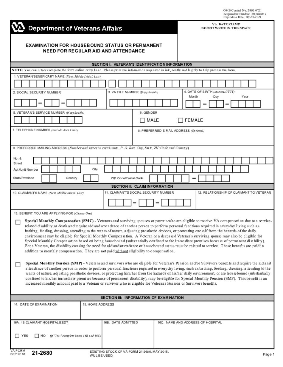 va form 21-2680 instructions