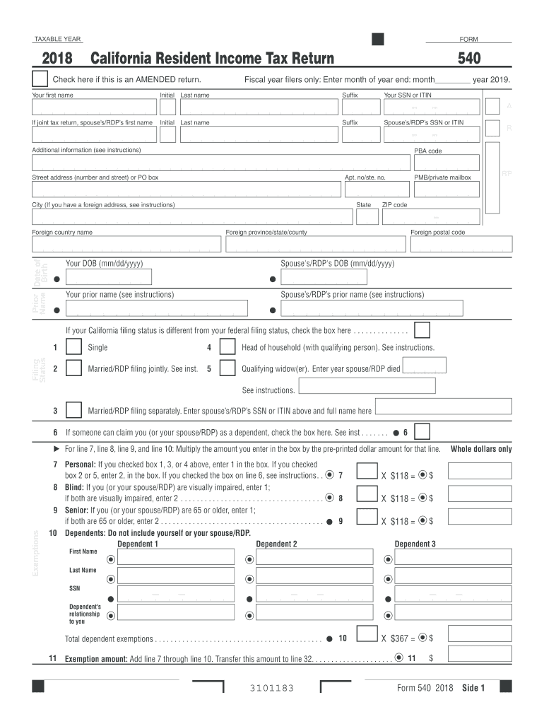 ca state tax extension form 2018