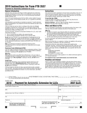 2018 Form CA FTB 3537 Fill Online, Printable, Fillable