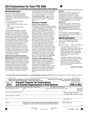 2018 Form CA FTB 3586 Fill Online, Printable, Fillable
