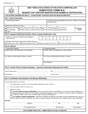 w 9 form 2019 pdf  7 NY Substitute Form W-7 Fill Online, Printable, Fillable ...