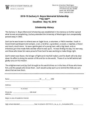 University Of Washington Scholarships >> Fillable Online Deette Mcauslan Stuart Scholarships