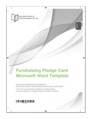 Fillable Online Free Download Fundraising Pledge Card