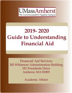Umass Amherst Spring Concert 2020.Fillable Online 2019 2020 Guide To Understanding Financial