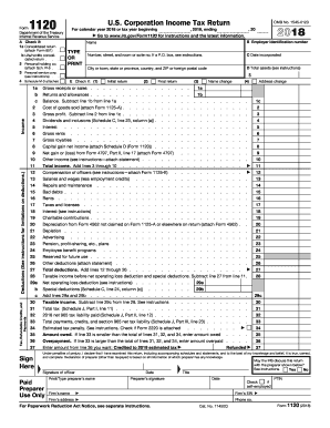 form 1120 2017 - Fill Out Online Forms Templates, Download