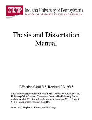 iup thesis dissertation manual