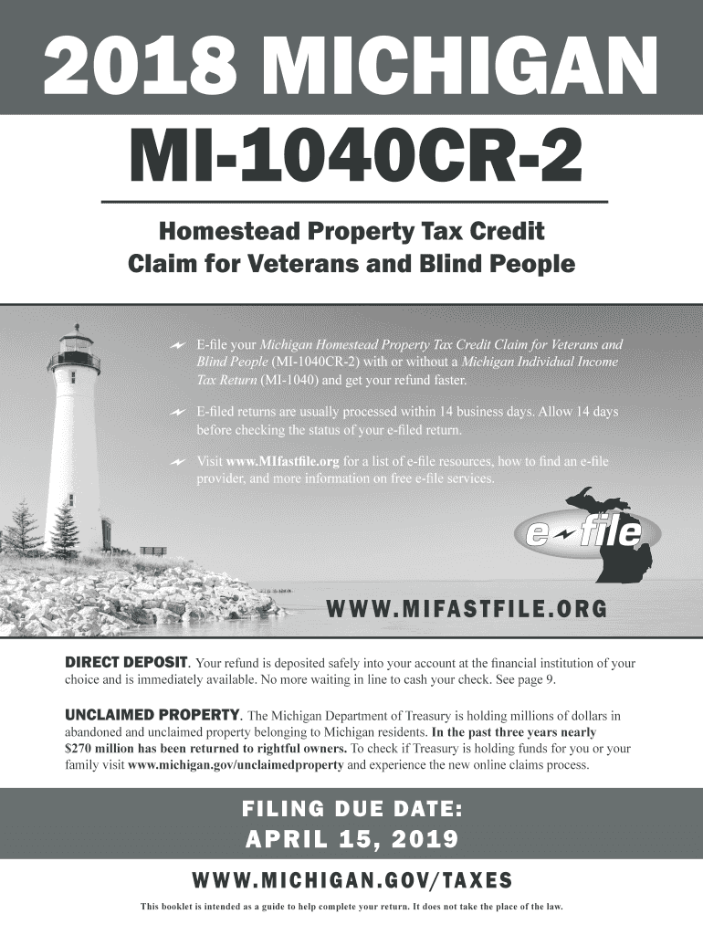 2018-2020 Form MI DoT MI-1040CR-2 Fill Online, Printable ...