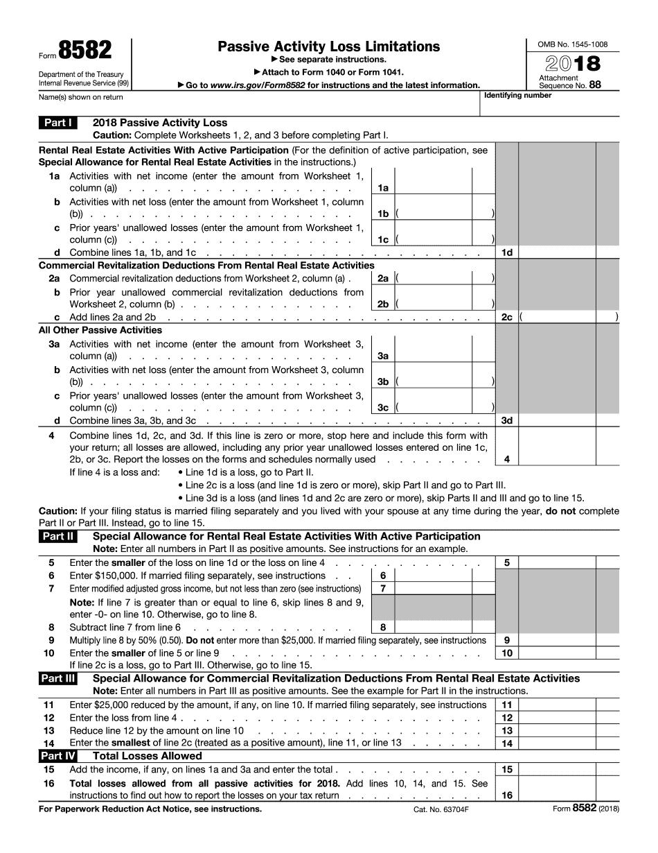 Form 8582