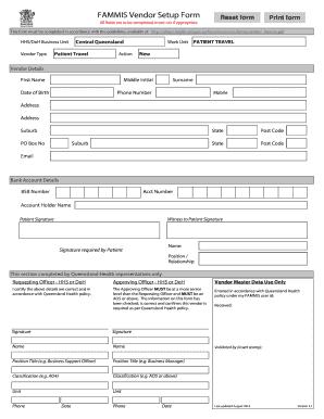 2016 2020 Au Fammis Vendor Setup Form Fill Online Printable Fillable Blank Pdffiller