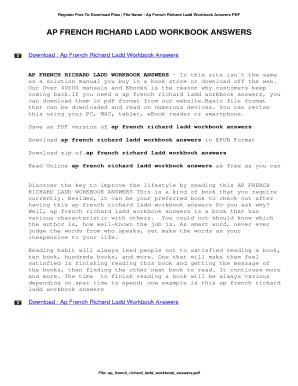 Ap French Richard Ladd Answer Key Fill Online Printable Fillable Blank Pdffiller