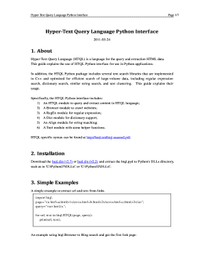 Fillable Online Hyper-Text Query Language Python Interface 1