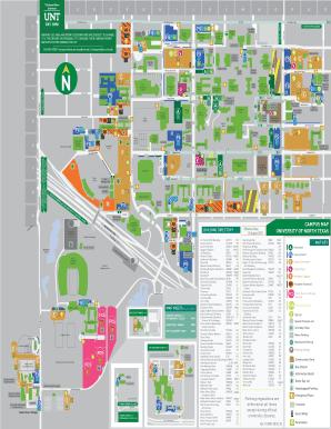 unt denton campus map Unt Campus Map Pdf Map Of The World unt denton campus map