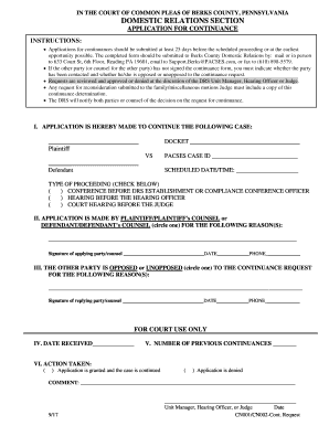 Fillable Online Forms Filing Requirements - Berks County Fax