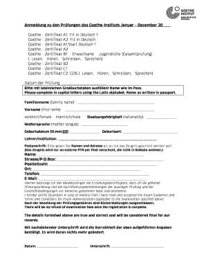 Goethe zertifikat a1 prüfung pdf