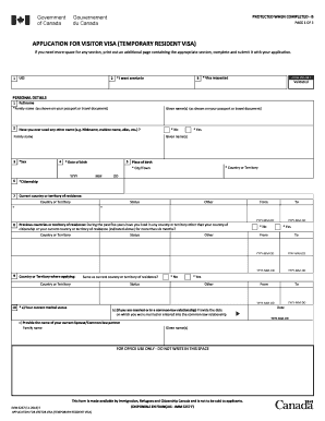 Imm 5257 Form With Barcode Fill Online Printable Fillable Blank Pdffiller
