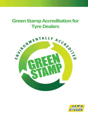 Fillable Online Green Stamp Accreditation for Tyre Dealers - MTA NT