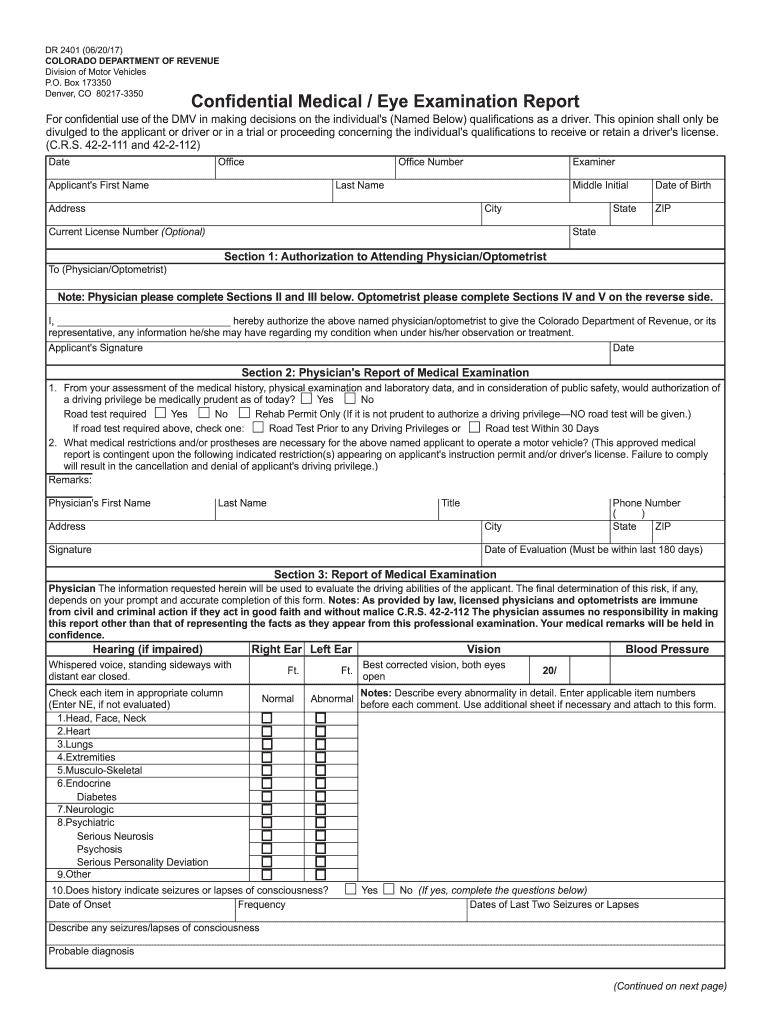 2017 2020 Form Co Dor Dr 2401 Fill Online Printable Fillable Blank Pdffiller