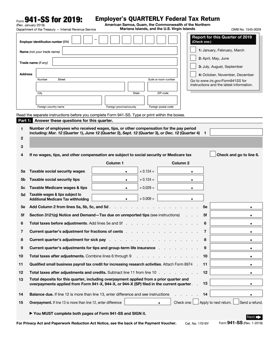 Fillable IRS Form 11-SS 11 - Online PDF Template